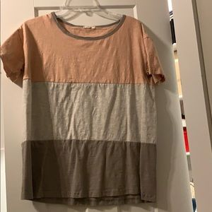 Easel color block tee